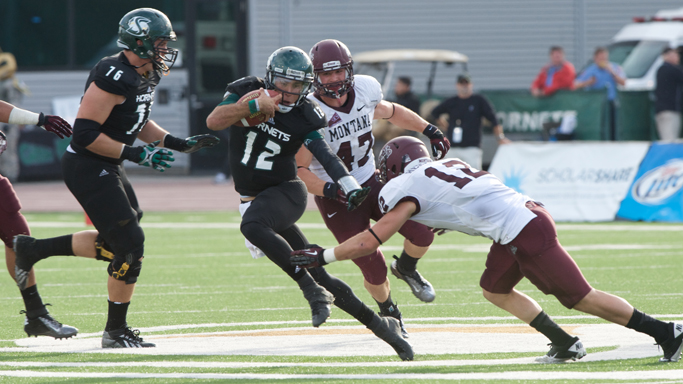 FOOTBALL FALLS IN OVERTIME TO No. 12 MONTANA