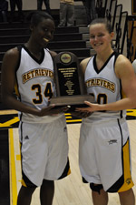 Juniors Tope Obajolu and Erin Brown each earned America East All-Conference honors.