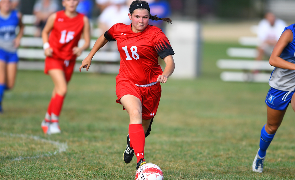 Women's Soccer Tripped Up at Bay Path
