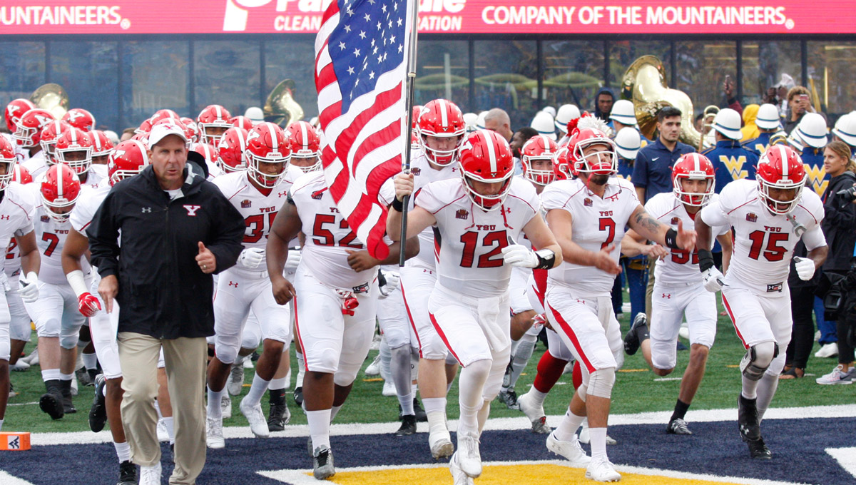 YSU takes the field at West Virginia.