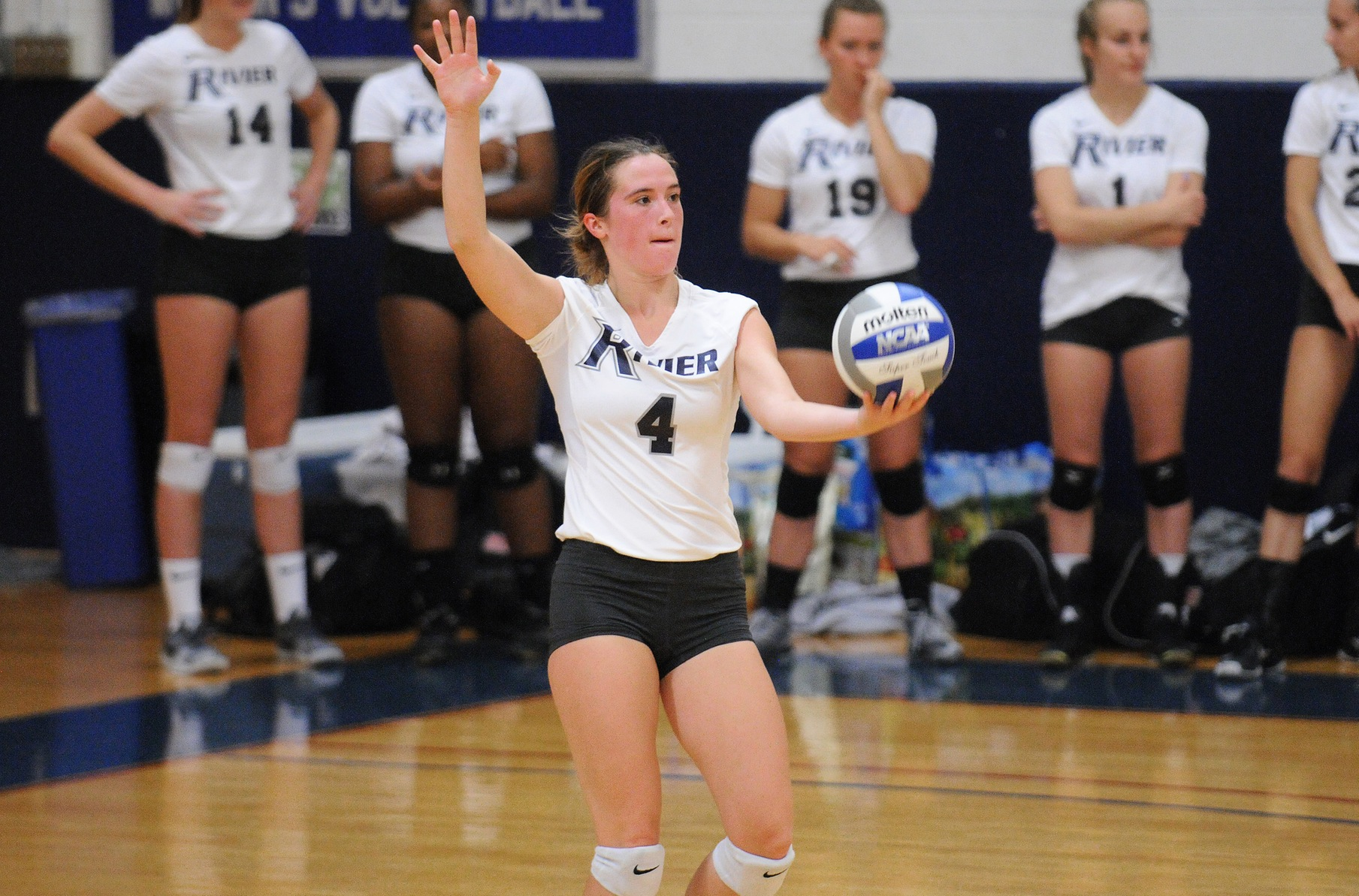 Women's Volleyball: Dunster's 18-kill effort leads Raiders past Lions 3-0