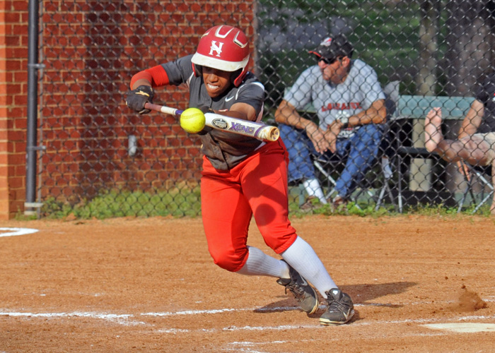 Daisha Henderson had two hits, three stolen bases and scored a run in Thursday's doubleheader with LaGrange. (Photo by Wesley Lyle)