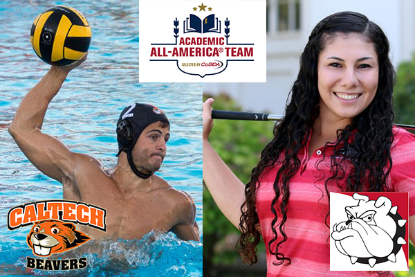 Caltech's Bradley and Redlands' Ordian Named CoSIDA Academic All-America