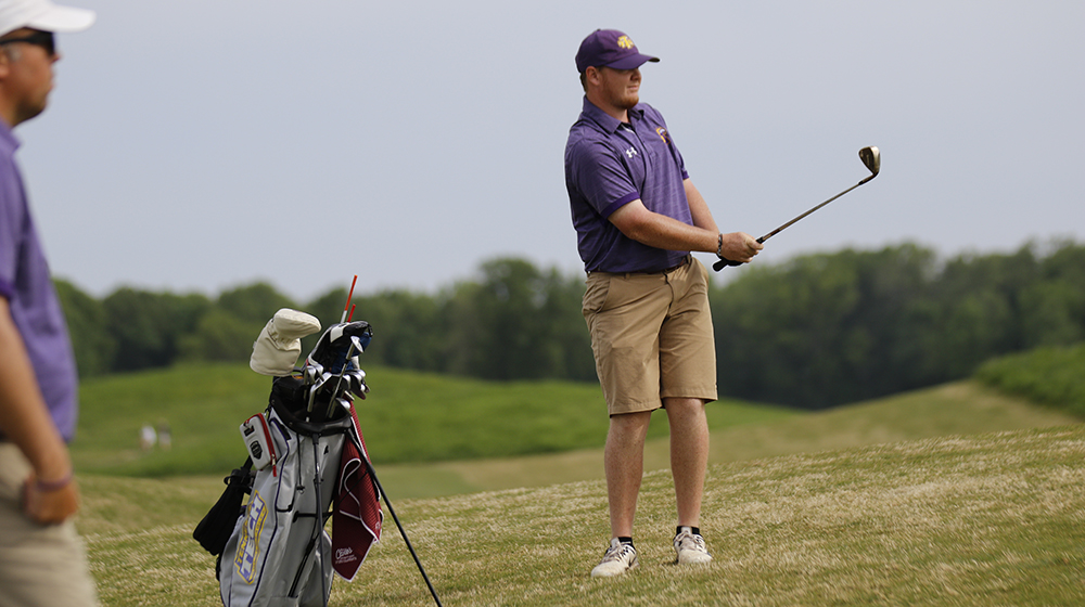 Womack ties program single-round record, Golden Eagles tie for fifth at OVC Championships