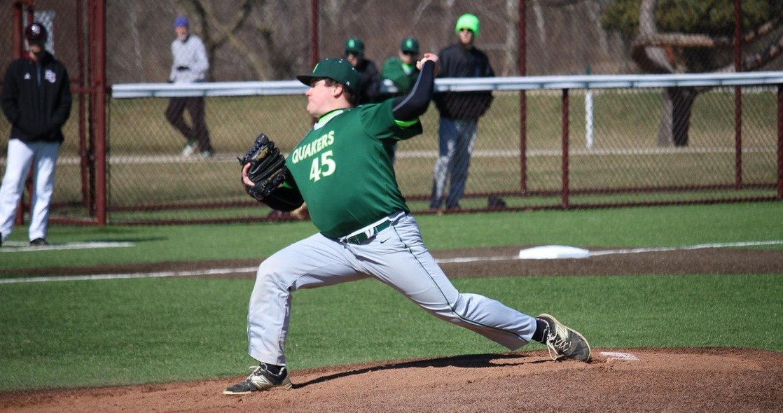 Baseball Drops Doubleheader at Earlham to Open Season