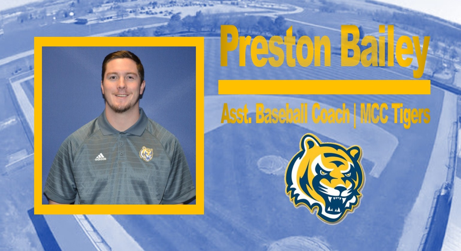 Preston Bailey announced Assistant Baseball Coach