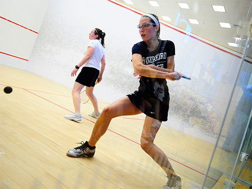 Women's squash dominates on Senior Day