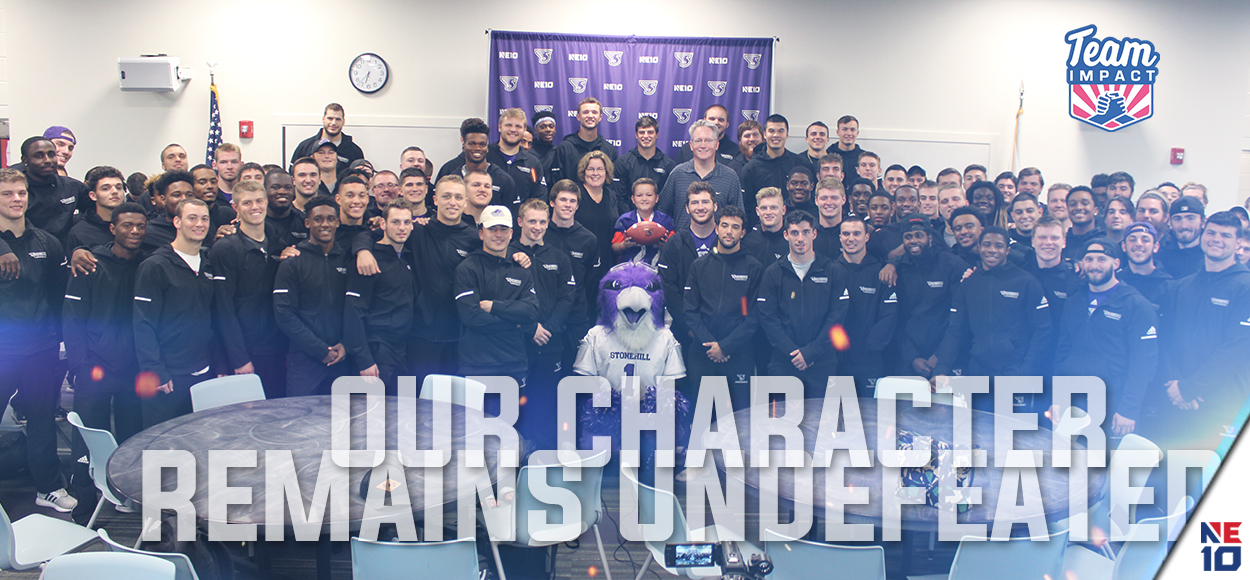 Embrace the Impact: Stonehill Football Signs 11-Year Old Danny from Team Impact