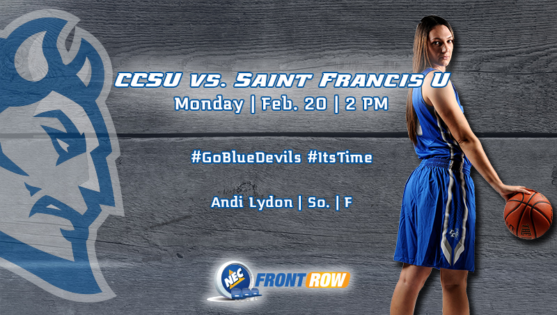 Women's Basketball Hosts Saint Francis U. at 2PM Monday