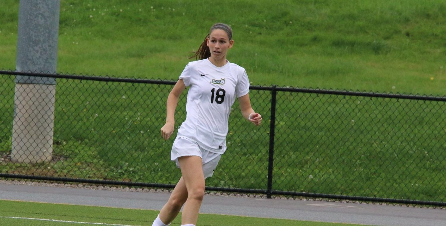 Danielle DeSimone had a goal and an assist for Keuka College on Saturday -- Photo by Ed Webber