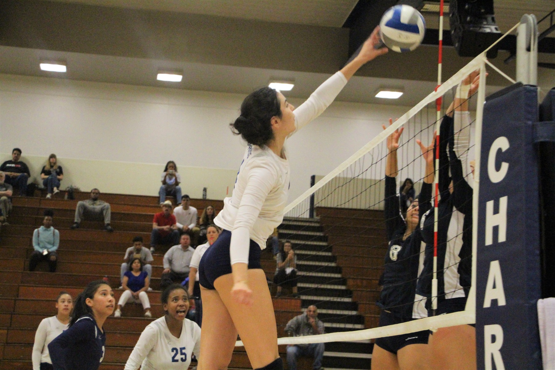 No. 18 Chargers Knock Off No. 21 Pirates in Four Sets