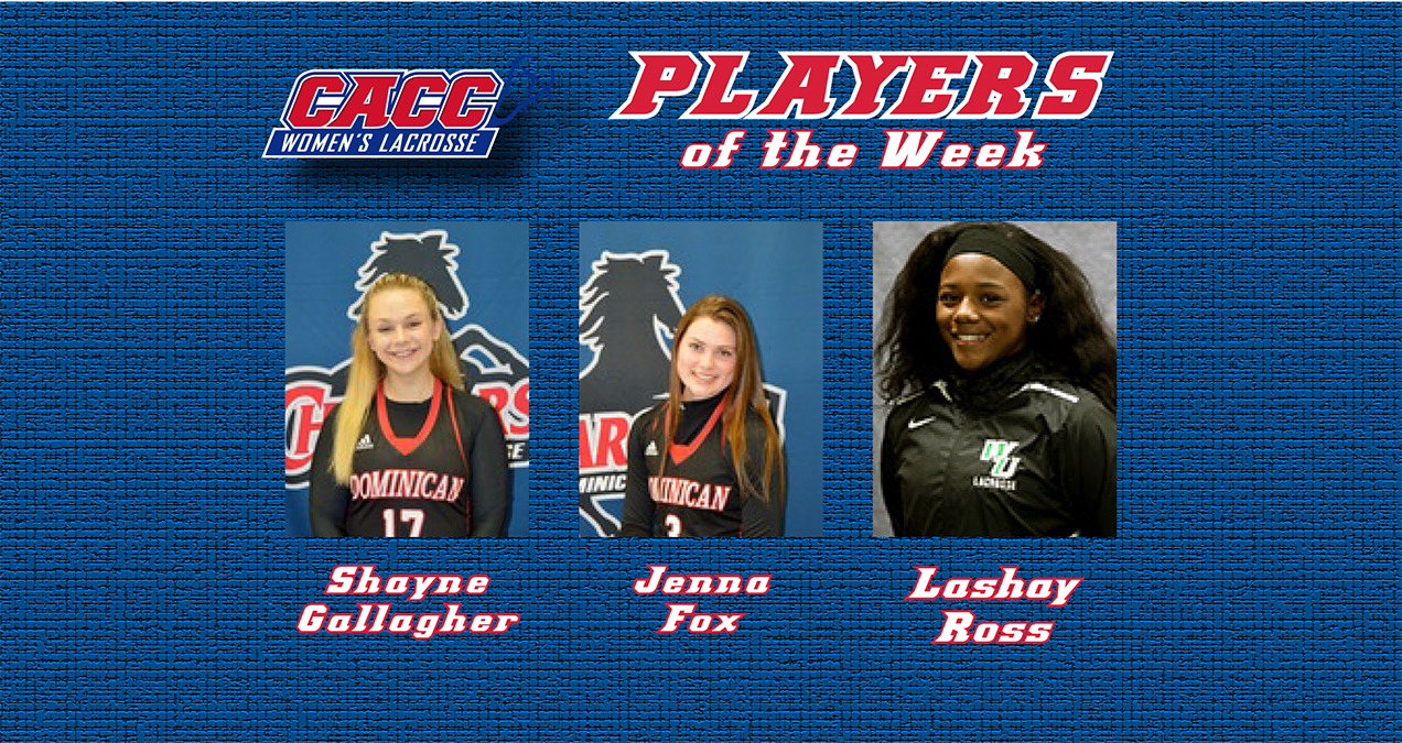GALLAGHER AND FOX EARN CACC WOMEN'S LACROSSE WEEKLY HONORS