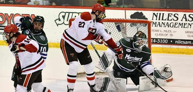St. Lawrence fall behind early, lose to Mercyhurst