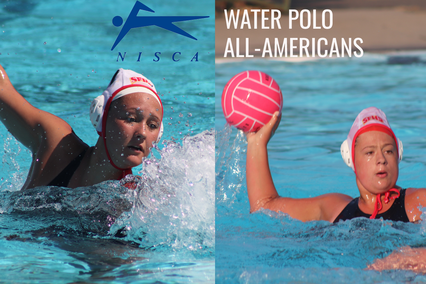 Houck and Slater Earn NISCA Water Polo All-America Honors
