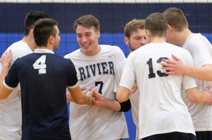 Men's Volleyball: #12 Rivier sweeps Mount Ida in GNAC action