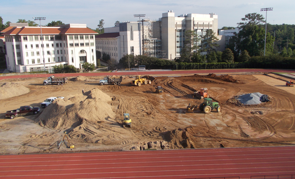 Renovation Work Continues On Emory Soccer Field