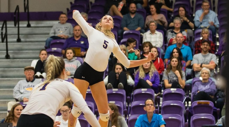 Woycik Hits 1,000 Kills As Eagles Sweep Lakers