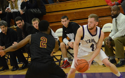 Senior guard Justin Klingman scored all 15 of his points in the second half in the Royals' 71-65 loss to Catholic University in Washington, DC.