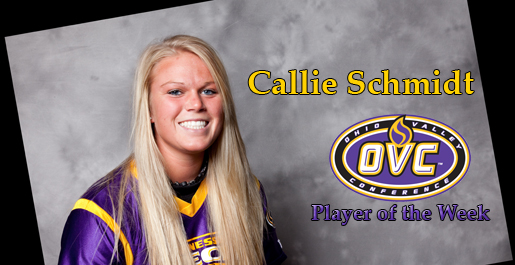Schmidt earns first career OVC Player of the Week nod
