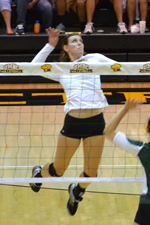 Volleyball Falls in Four Sets to George Mason in Home Opener
