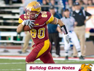 Sophomore receiver Damien Miller and the Bulldogs face Northern Michigan this Saturday (Photo by Ed Hyde)