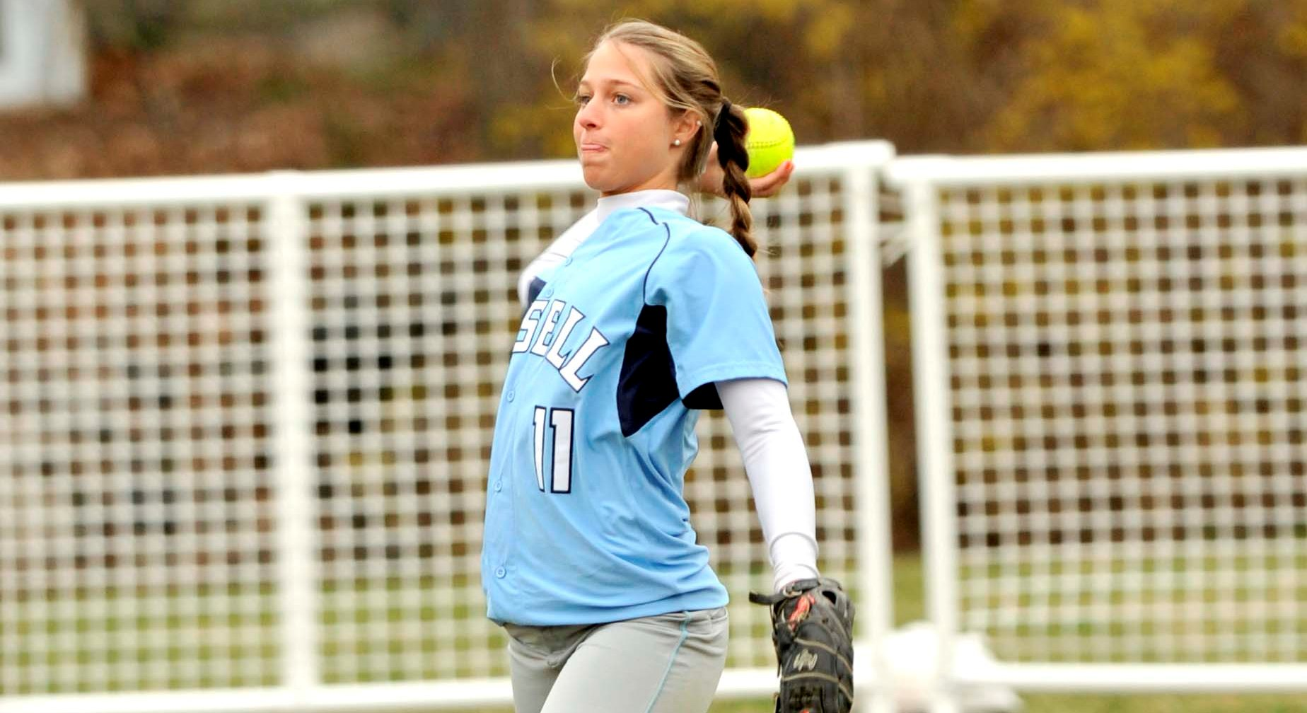 Brandeis Takes Two from Lasell in Softball