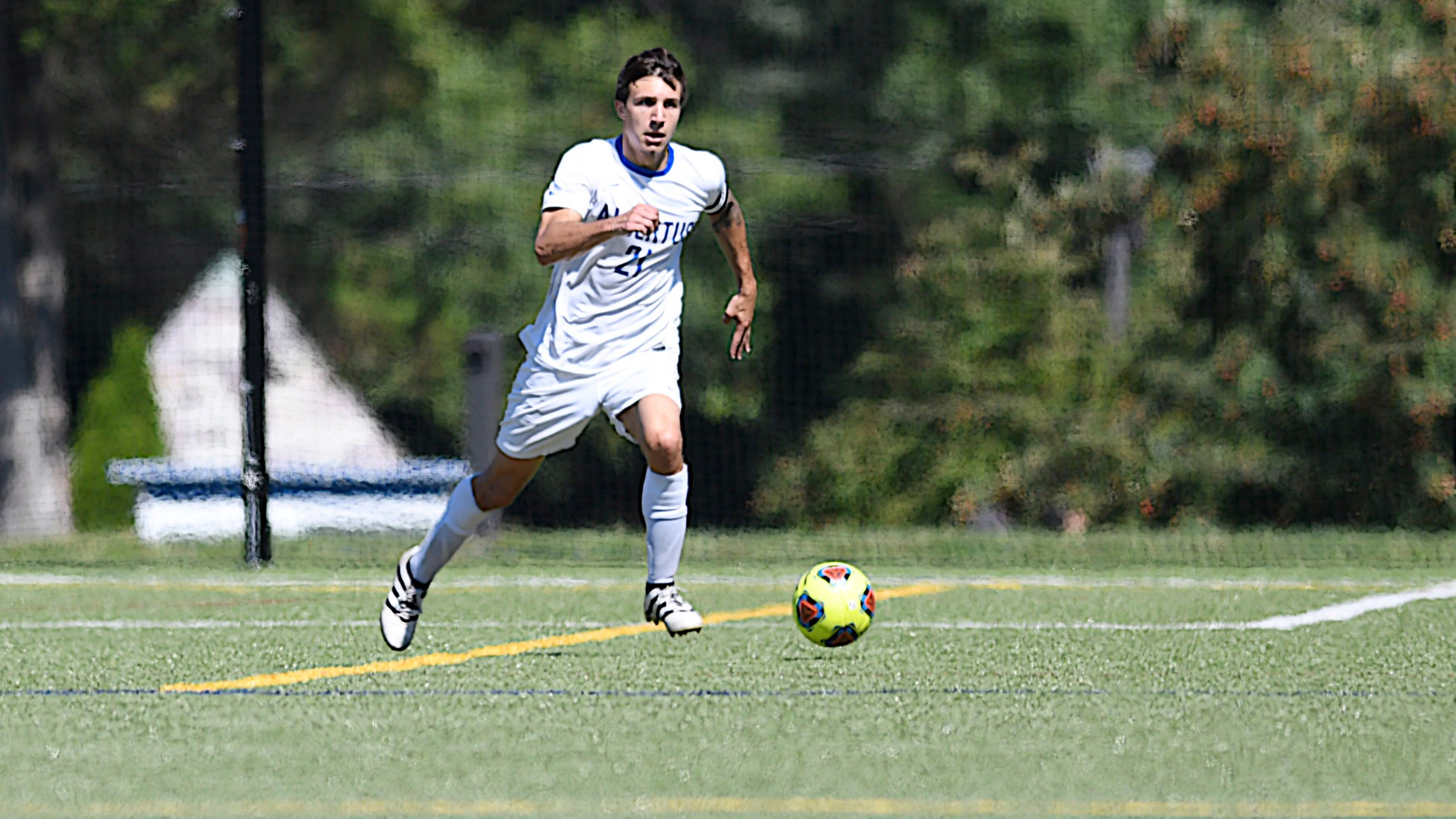 Saad Nets Game-Winner as Men's Soccer Beats Suffolk, 3-2