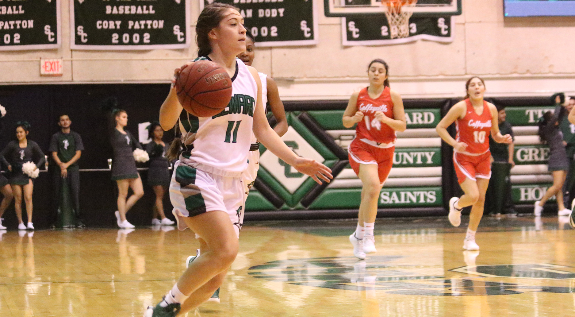 Lady Saints Win 4th Straight; Dismantle Red Ravens