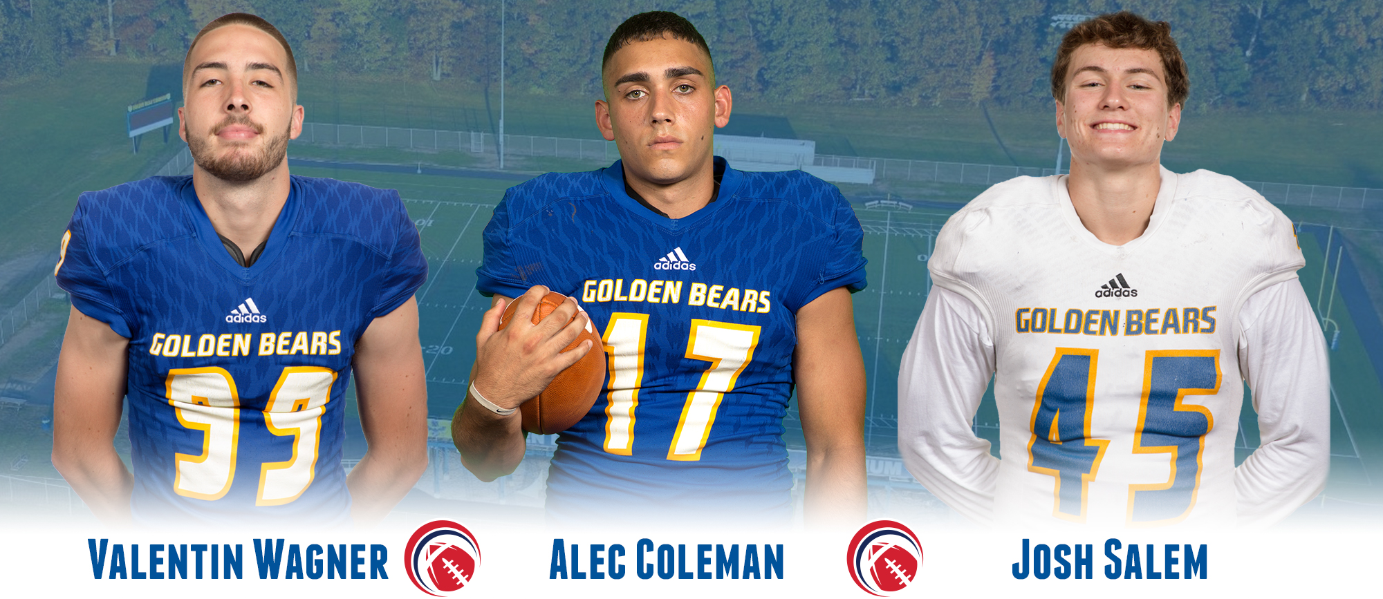Coleman, Salem & Wagner Recognized by CCC Football Following Saturday's Win over Nichols