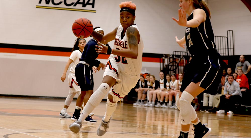 Women's basketball surges late to topple Webster
