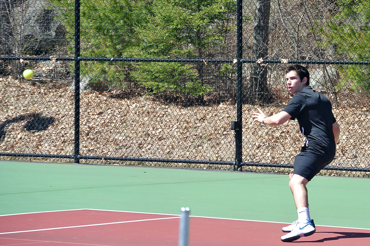 Men's Tennis Edged in Season Opener