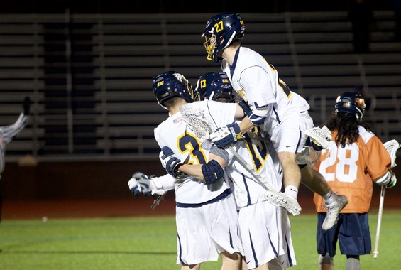 Men's Lax Ends 3-Game Skid with 14-11 Win Over Farmingdale