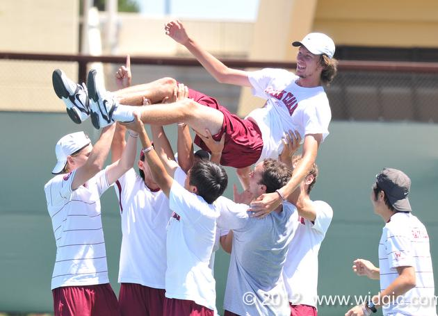 Santa Clara Men's Tennis Downs Texas for Program's First NCAA Tournament Win