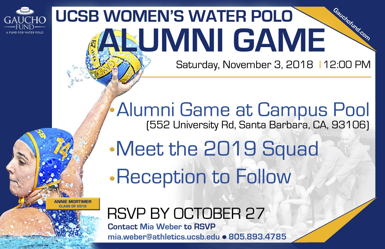 UCSB Women's Water Polo Alumni Game Set for Nov. 3