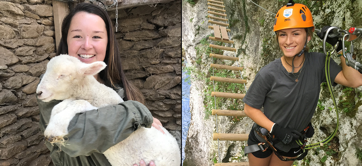 Maddie Connelly and Zoe Rose Study Abroad in Ireland and Italy