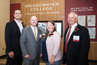 2017 Hall of Fame Class (from left to right) Kyle Williford, Jason Lutz, Jennifer Young and Charles Fairchilds