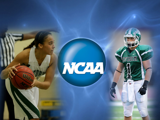 Women's basketball player Chloe Irish and football player Anthony Elias are two of the 300 student-athletes selected nationwide to attend the NCAA Career in Sports Forum in Indianapolis June 8-11.