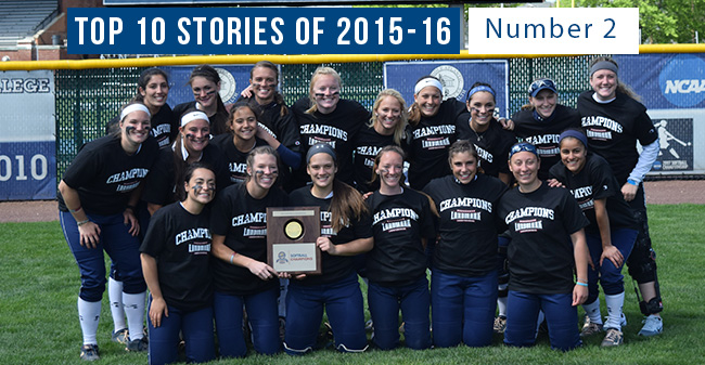 Top 10 Stories of 2015-16 - #2 Softball Wins Second Straight Landmark Conference Title