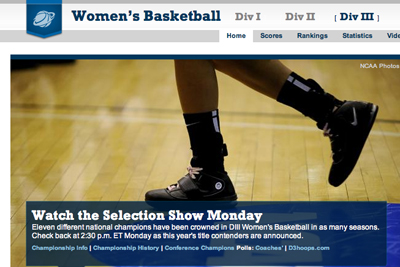 Watch the Women's Basketball Selection Show at 1:30 p.m.