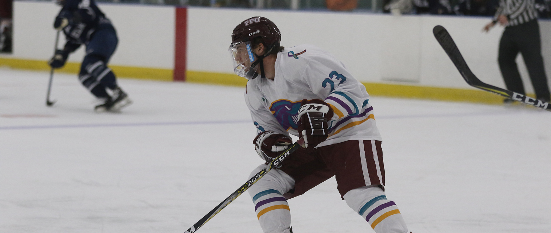 Men's Ice Hockey Blitzed by Fitchburg State, 9-1, in Final of Steve Hoar Invitational