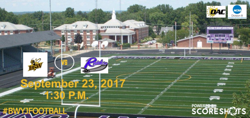 Football Hits The Road for OAC Game at #2 Mount Union