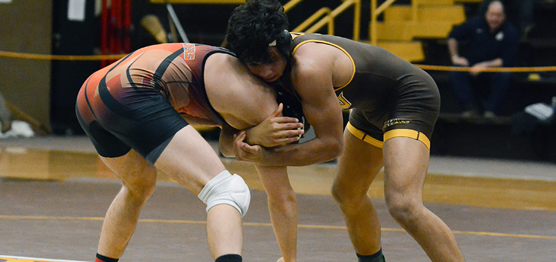 Anthony Arroyo claimed his 100th victory in the Waynesburg Duals