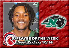 McCoy Scott-Nichols, CCC Football: Defensive Player of the Week