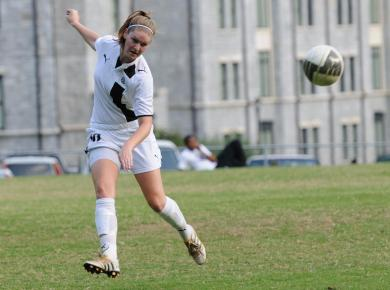 Lady Petrels Fall to Rhodes, 2-0, on Senior Day
