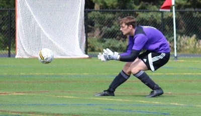 Men's Soccer goalie Ormiston