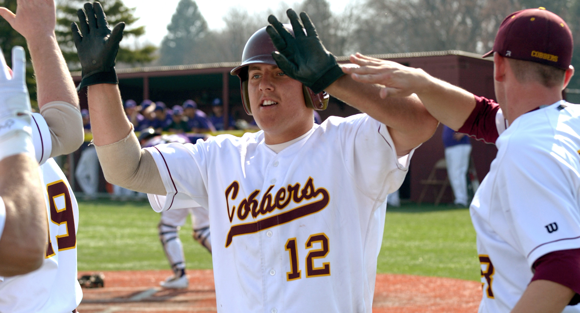 Junior Nate Leintz had a walkoff grand slam in the first game and then the game-tying single in the bottom of the ninth in the second game in the Cobbers' sweep over Augsburg. Both hits came with two outs and two strikes.