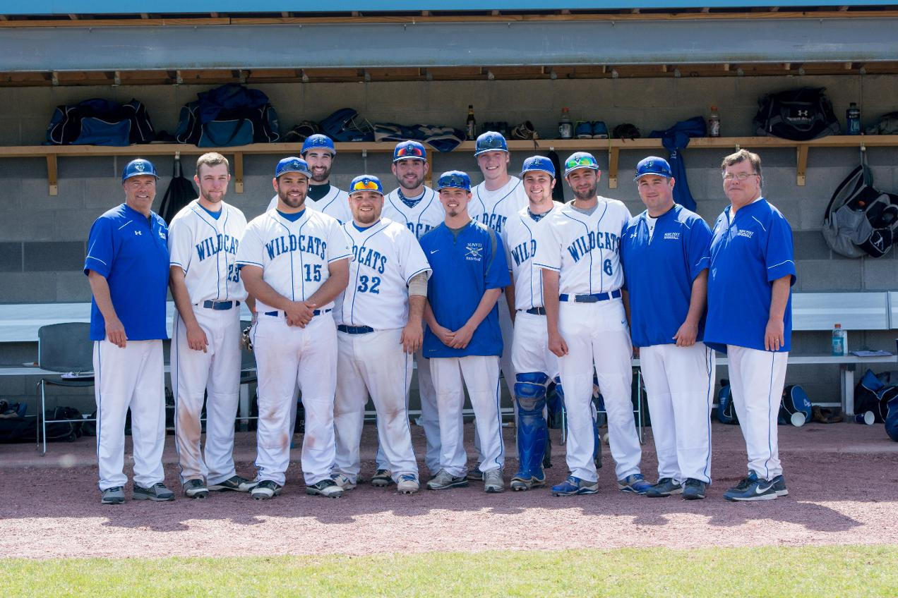 Baseball Team Wins NEAC Regular Season Title on Senior Day with Sweep of Penn College; Will Host NEAC Tournament May 8-11