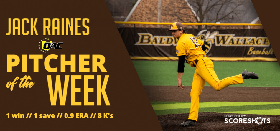Raines Collects OAC Pitcher of the Week Honor