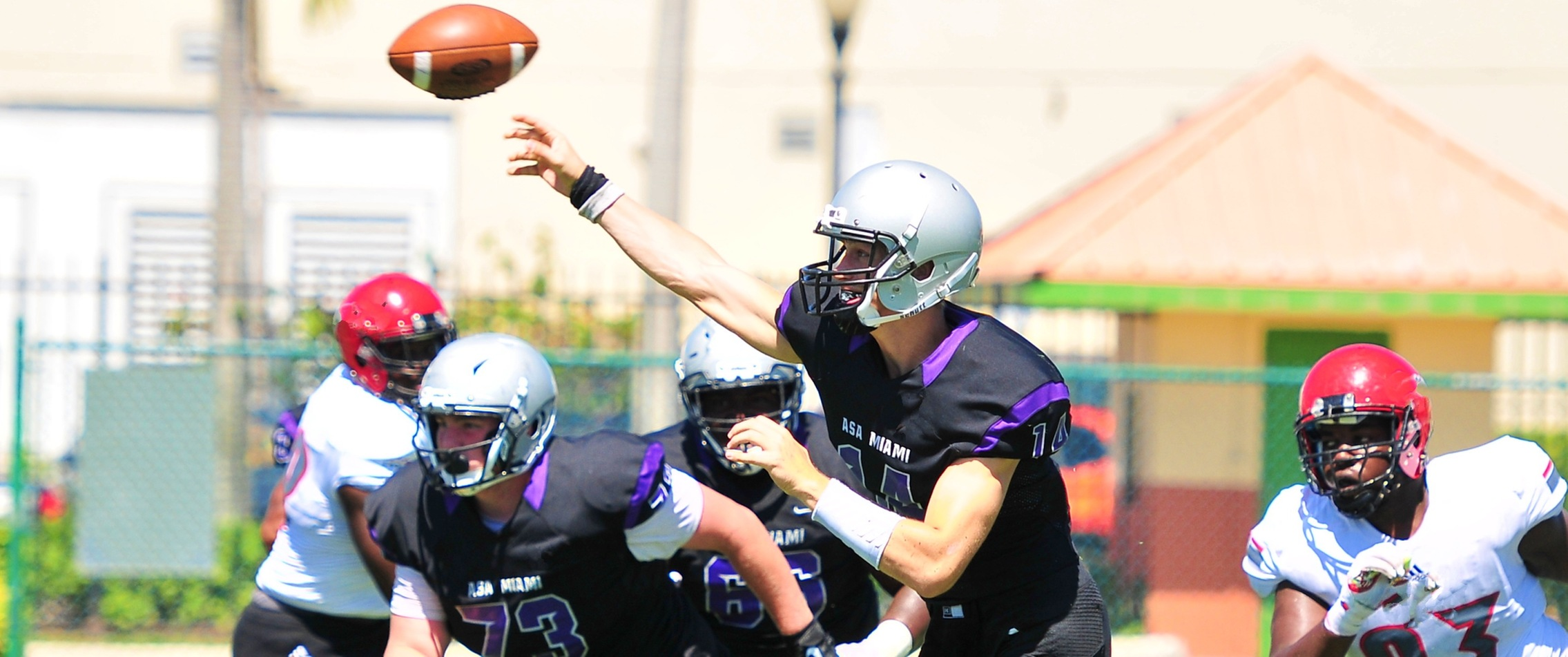Winzeler Throws 3 TDs, ASA Miami Routs Nation Christian 63-3