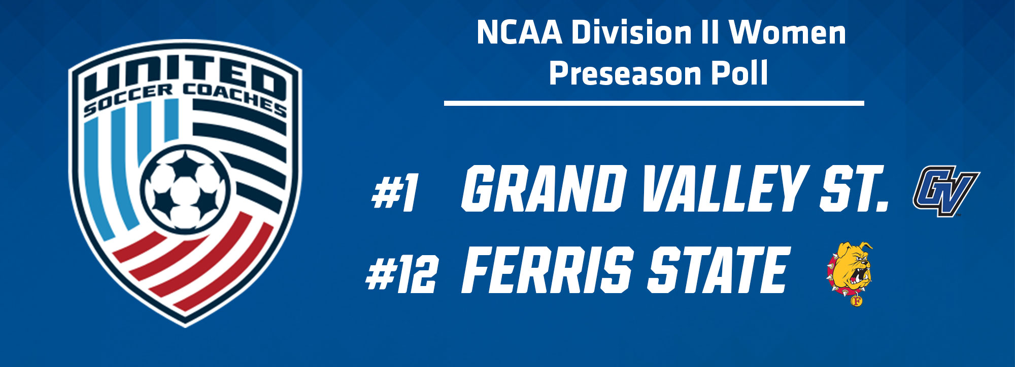 Grand Valley State Ranked First Overall in United Soccer Coaches Preseason Poll
